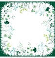 Floral abstract square template with stylized vector image