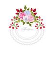floral round frame with bouquets of flowers vector image