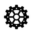 Gear icon Machine part design graphic vector image