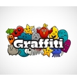Graffiti Characters Composition Flat Concept vector image vector image