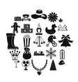 guys icons set simple style vector image vector image