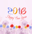 Happy new year 2016 Watercolor Colorful Poppies vector image vector image