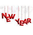 happy new year red quote ornament vector image vector image
