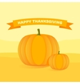 Happy Thanksgiving Day celebrations with pumpkins vector image vector image