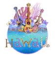 hawaiian postcard vector image
