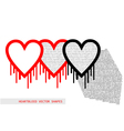 Heartbleed openssl bug shape vector image vector image