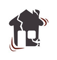 house earthquake desaster and natural destrution vector image