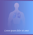 human lungs in man silhouette vector image vector image