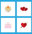 icon flat amour set of wedding cake love arrow vector image vector image