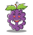 in love grape character cartoon collection vector image vector image