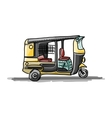 Indian taxi car sketch for your design vector image vector image