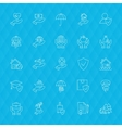 Insurance Services Line Icons Polygonal vector image