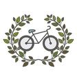 Isolated bike design vector image