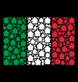 italy flag collage of house icons vector image