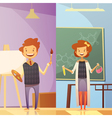 Kids Education 2 Vertical Cartoon Banners vector image vector image
