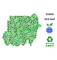 leaf green composition sudan map vector image vector image