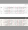 linear calendar for 2019 year vector image