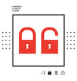 lock unlock - set icon vector image