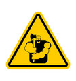 lumberjack attention sign woodcutter caution road vector image vector image