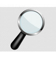 magnifying glass with transparent lens vector image