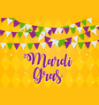 mardi gras brochure templatecelebration greeting vector image