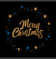 merry christmas text for christmas card vector image