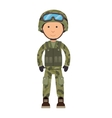 military soldier cartoon vector image
