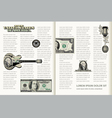 Money Page Layout vector image vector image