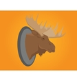 moose head on the wall vector image