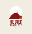 mount calvary with three crosses icon vector image vector image
