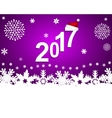 New Year 2017 on a purple background with vector image vector image