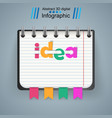 notepad notebok idea icon abstract infographic