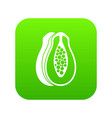 papaya icon digital green vector image