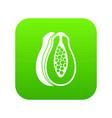papaya icon digital green vector image vector image