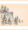 pine forest in mountains vector image vector image