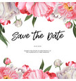 pink peony blooming flower botanical watercolor vector image vector image