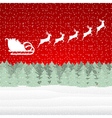 Santa Claus riding on a reindeer vector image vector image