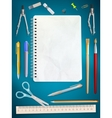 School office supplies EPS 10 vector image