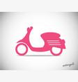 scooter retro icon vector image vector image