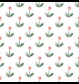 seamless floral pattern with hand drawn simple vector image vector image