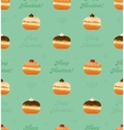 Seamless pattern traditional donuts and vector image vector image