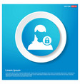 secure user icon abstract blue web sticker button vector image vector image