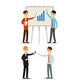 set business meeting presentation two vector image