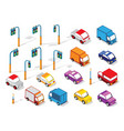 set cars and trucks vector image vector image