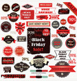 Set of black friday labels and ribbons design set