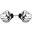 simple two hand in handcuffs vector image vector image