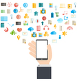 Smart phone and cloud technology vector image