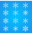 Snowflakes collection element for design vector image vector image