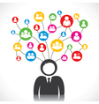 social network of people vector image