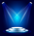 stage or podium with spotlighting - award vector image vector image